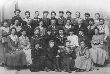 Photo de classe en 1907
